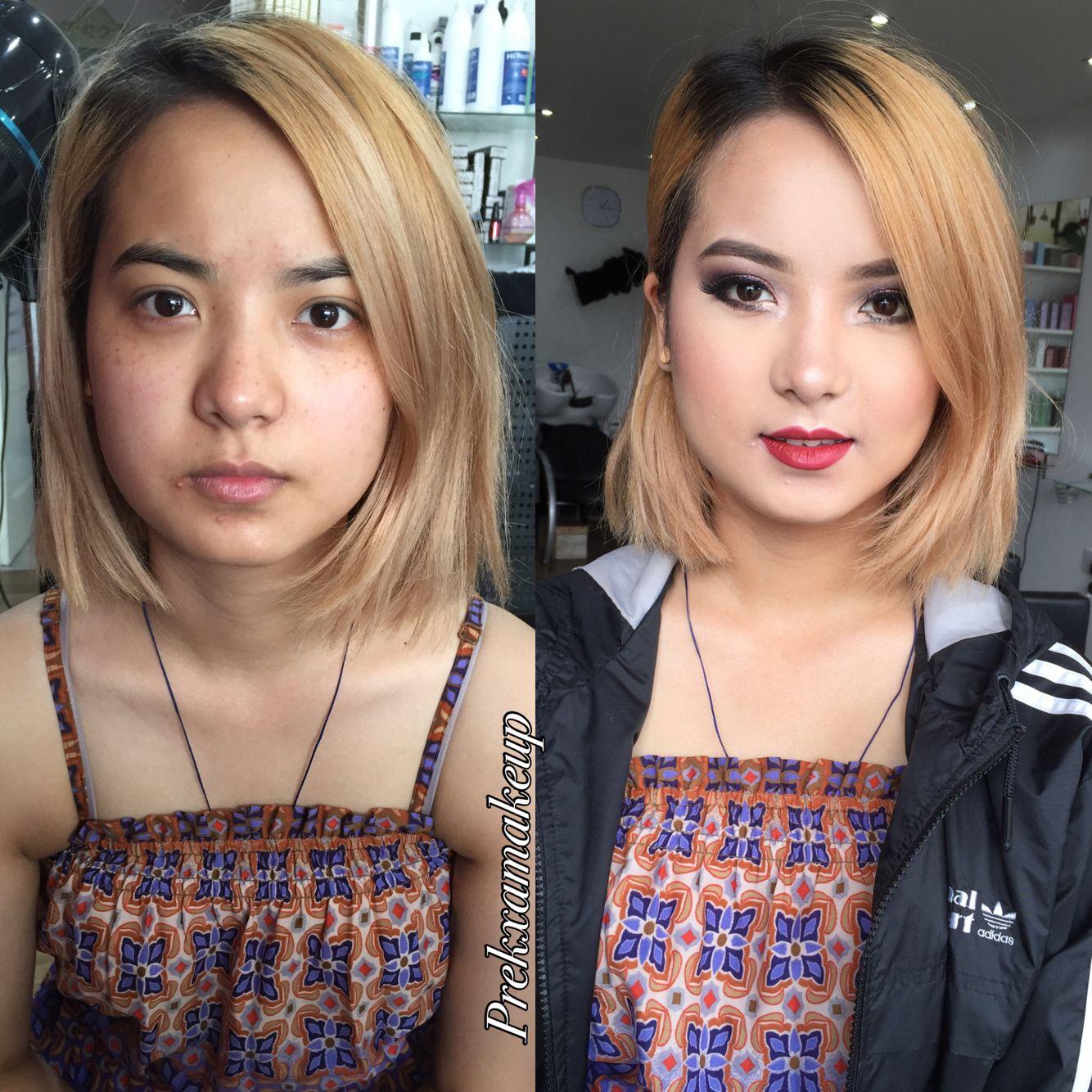 Makeup transformation, Follow me on Instagram - Prekxa_b #makeup # transformation #asian