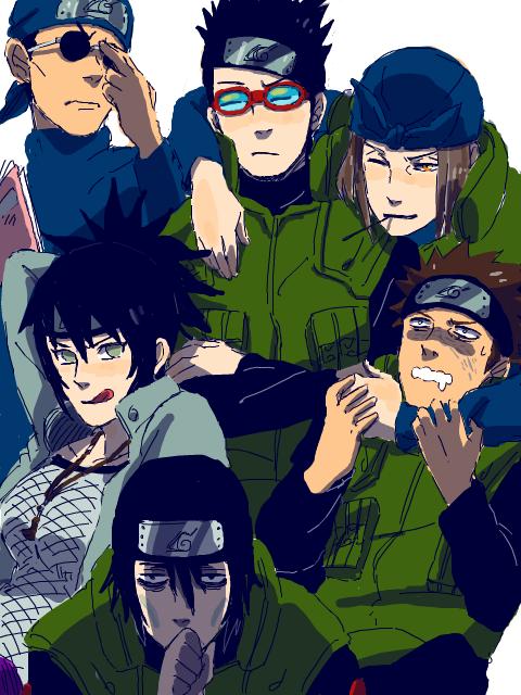 Ebisu, Aoba, Genma, Anko, Raido, Hayate