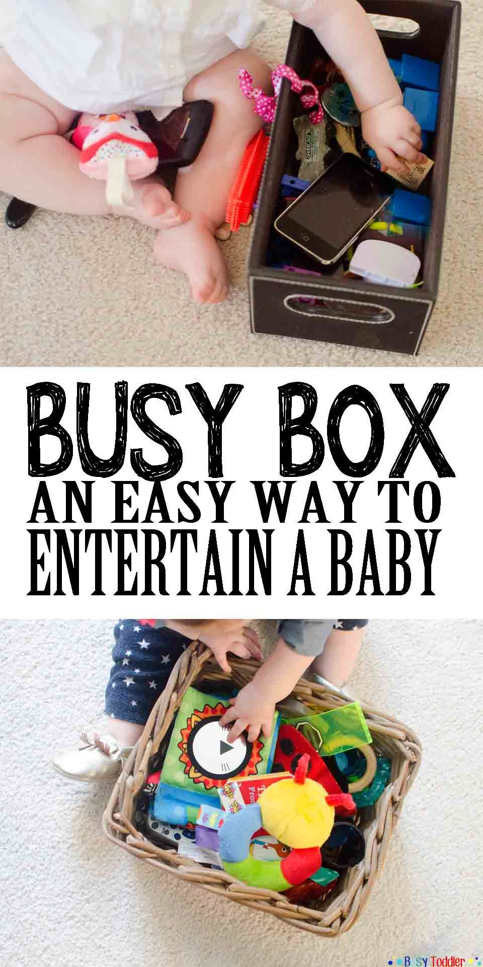 Busy Box | Busy boxes, Infant activities, Toddler activities