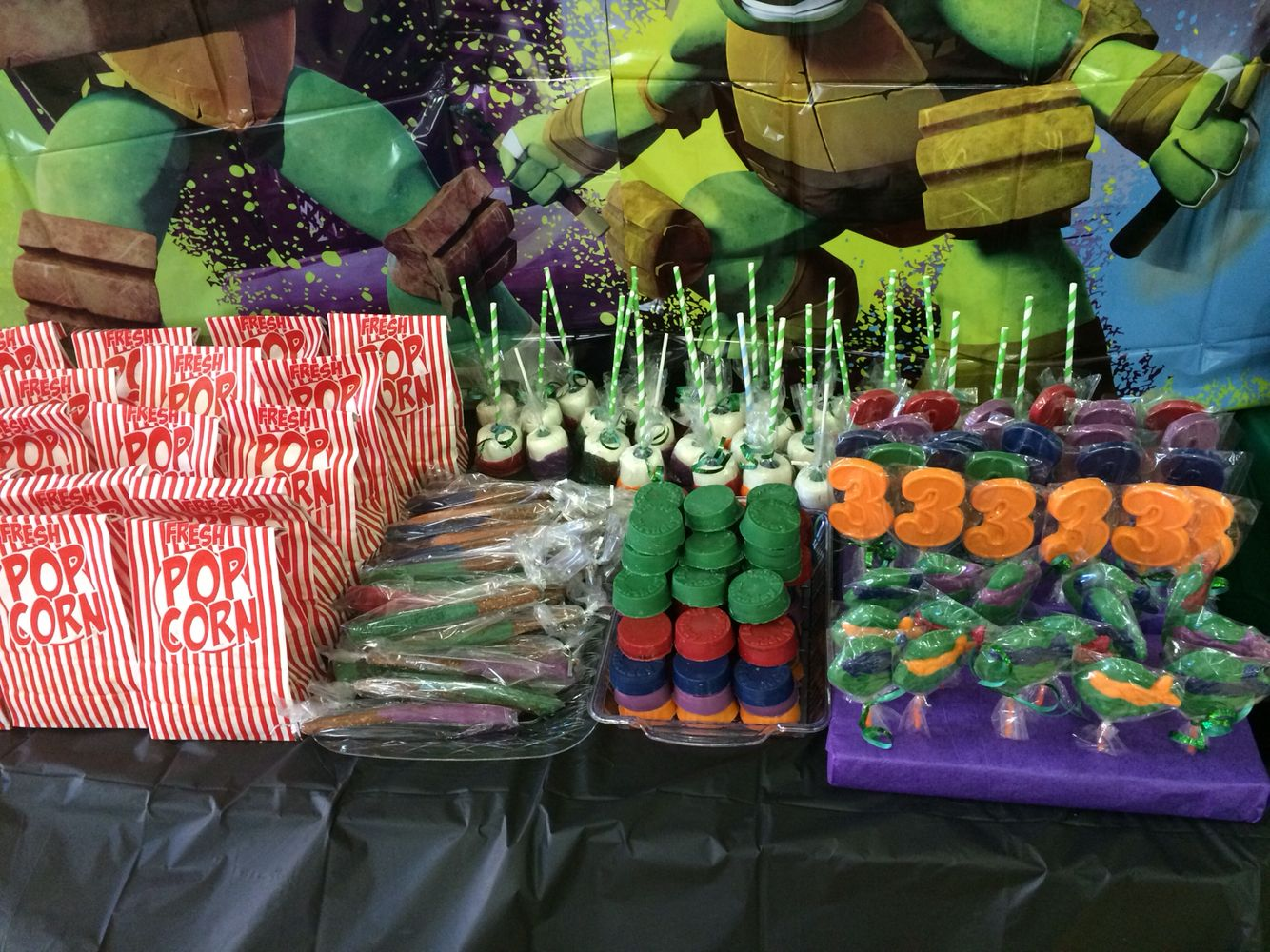 Ninja Turtle Candy Table Turtles Candy Candy Table Table Decorations