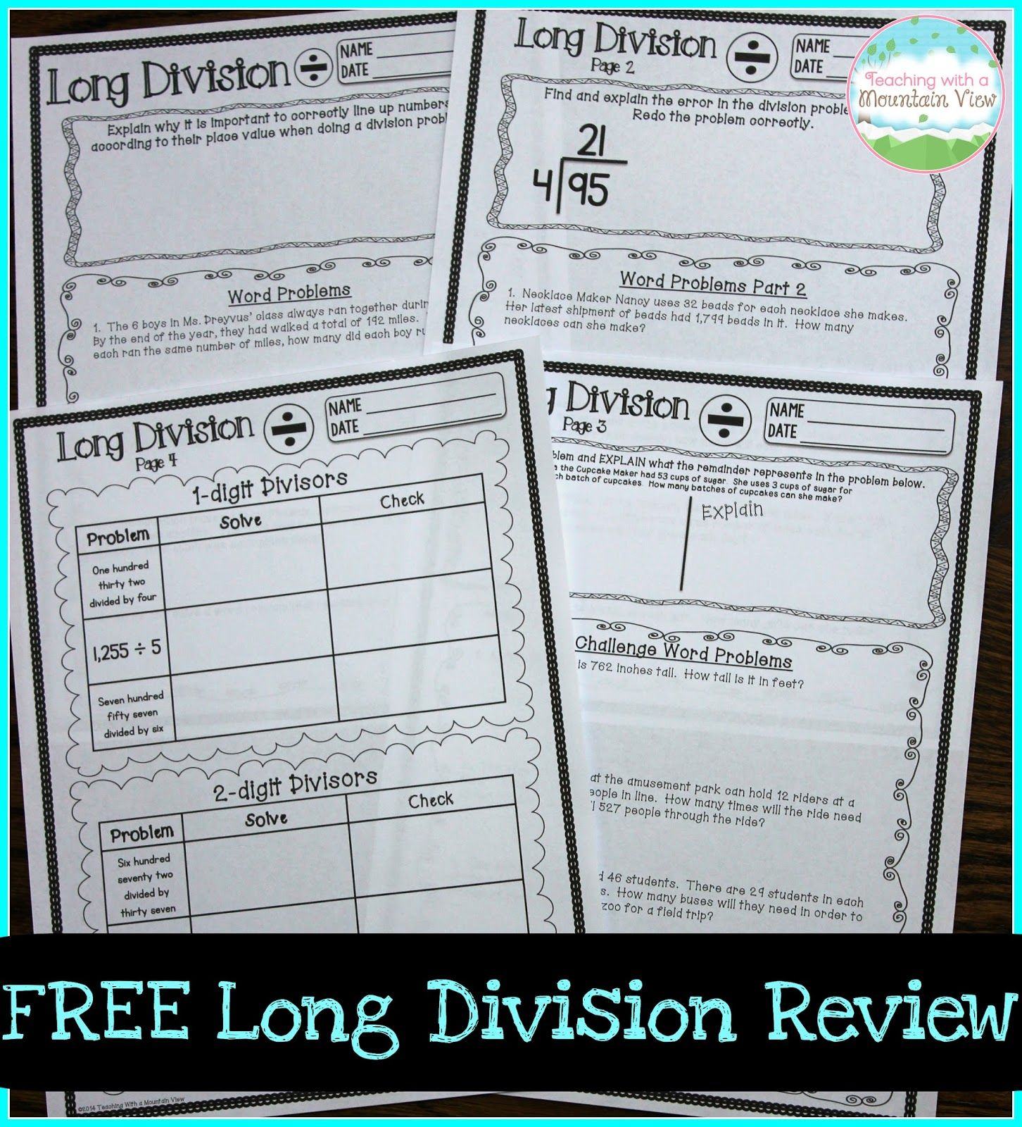 Teaching Long Division