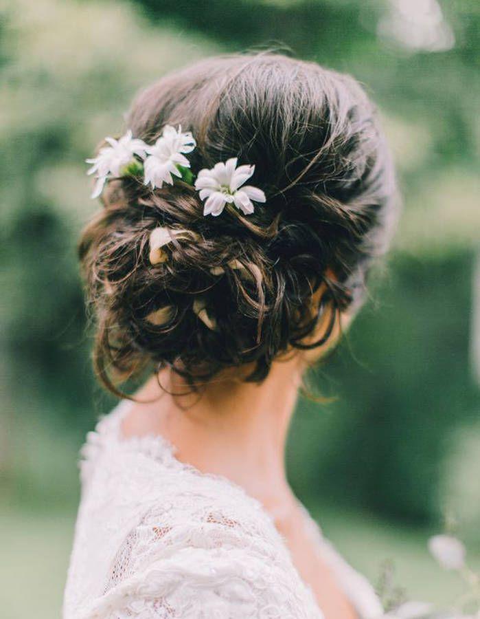 Fleur Cheveux Un Mariage Boheme Chic Avec Des Fleurs Dans Les