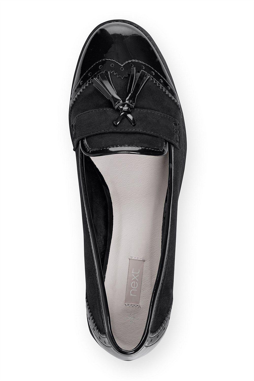 6d4fa9c3e79 Next Shoes for Women - Next Black Patent Tassel Loafers - EziBuy New Zealand