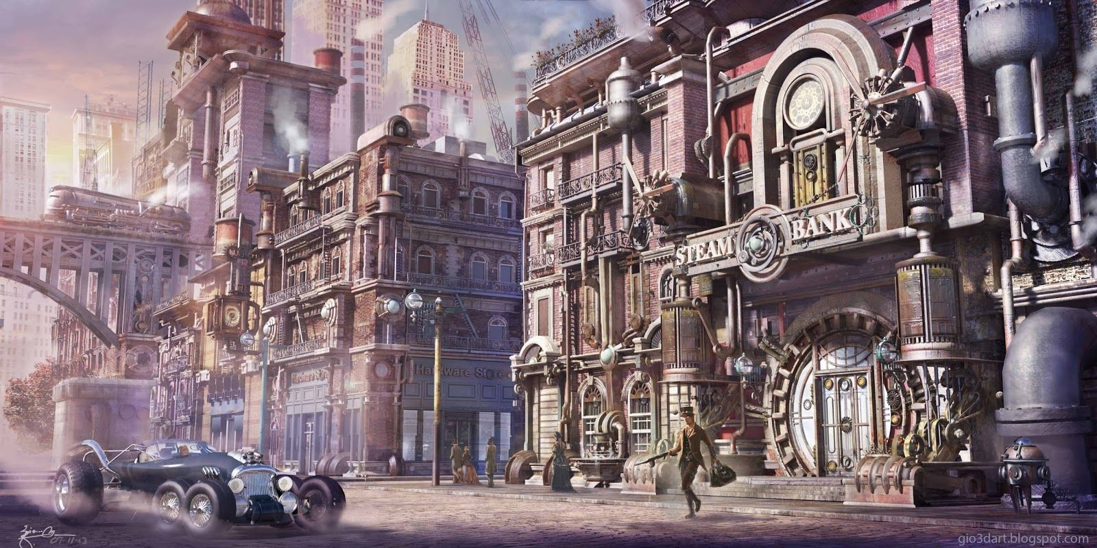 steampunk city names - HD 1600×800