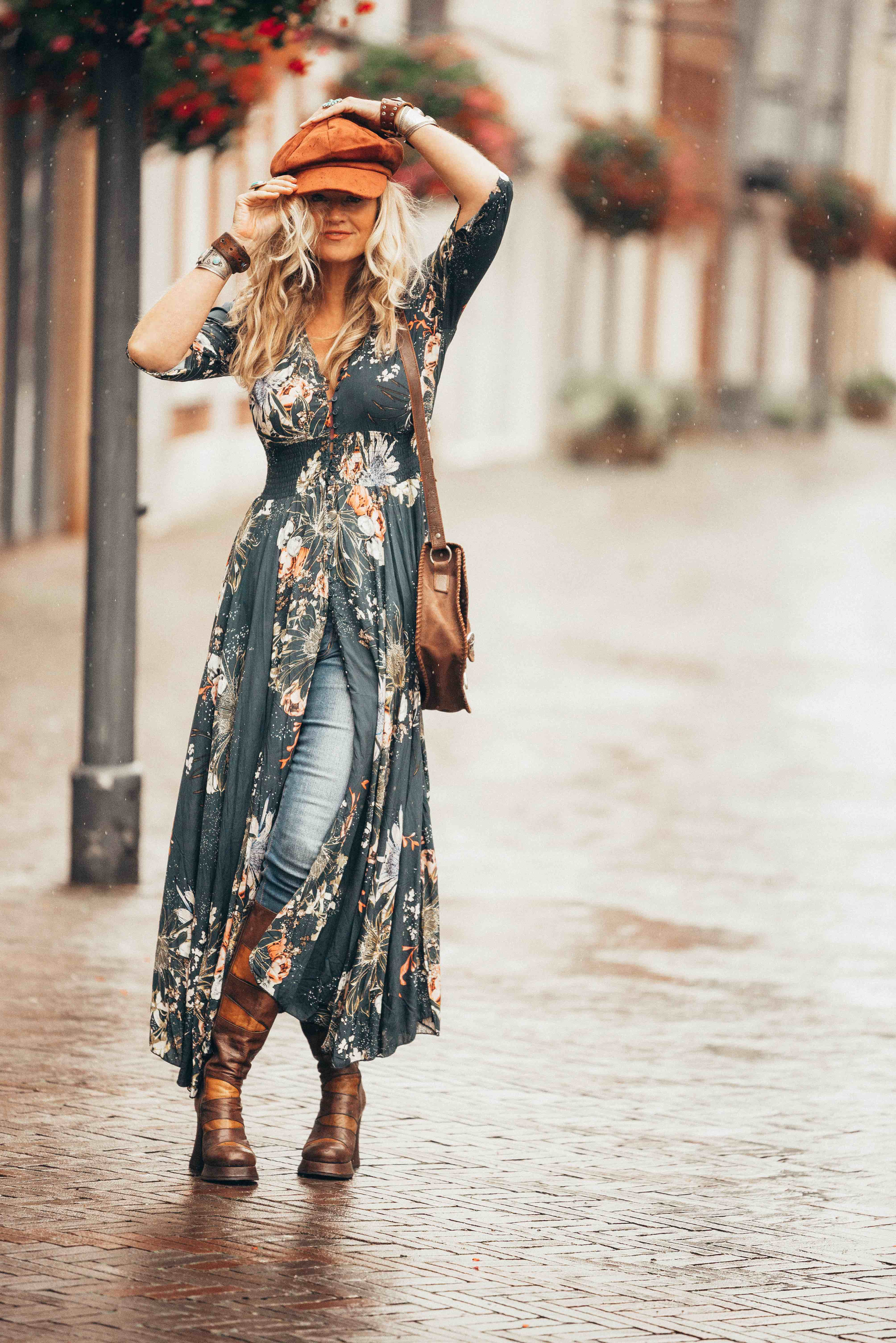 Mixing some vintage to create the perfect bohemian look