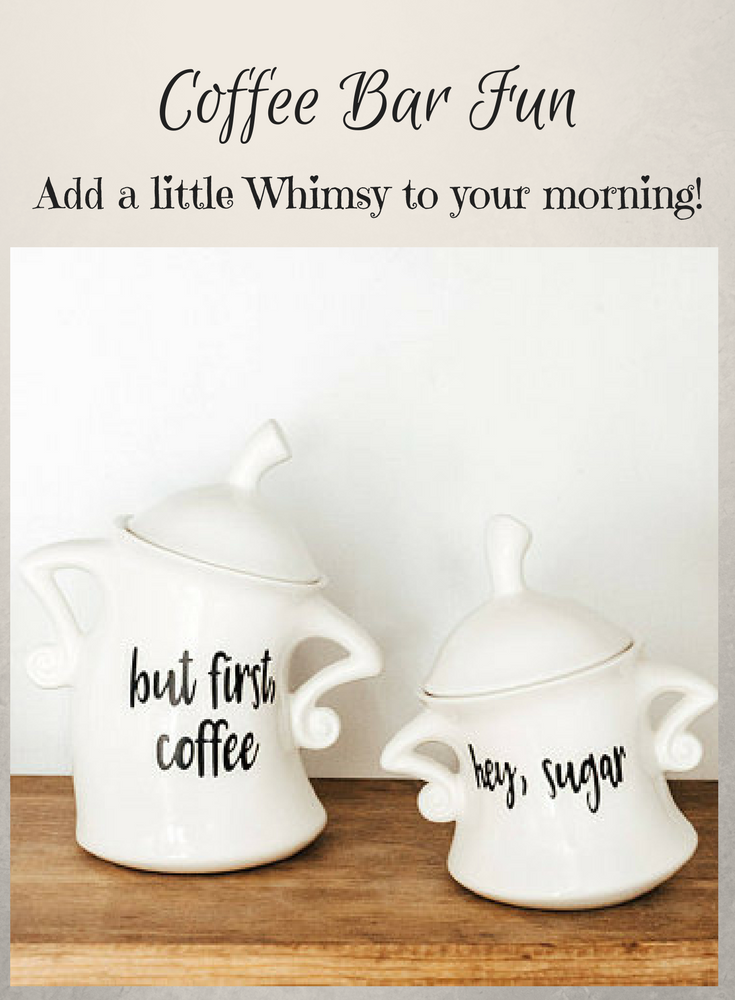 These Whimsical Kitchen Canisters Are Handmade And A Fun And Unique To Charm Any Personality Inspired By Alice I But First Coffee Whimsical Kitchen Coffee Bar