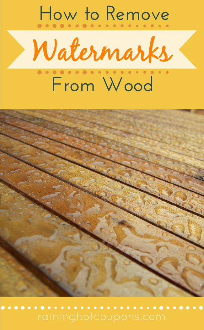 How To Remove Water Marks From Wood | woodworking | Pinterest ...
