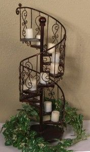 Beau Spiral Stairway Plant Stand   Spiral Staircase Wrought Iron 11 Candle  Holder   Shop Home,