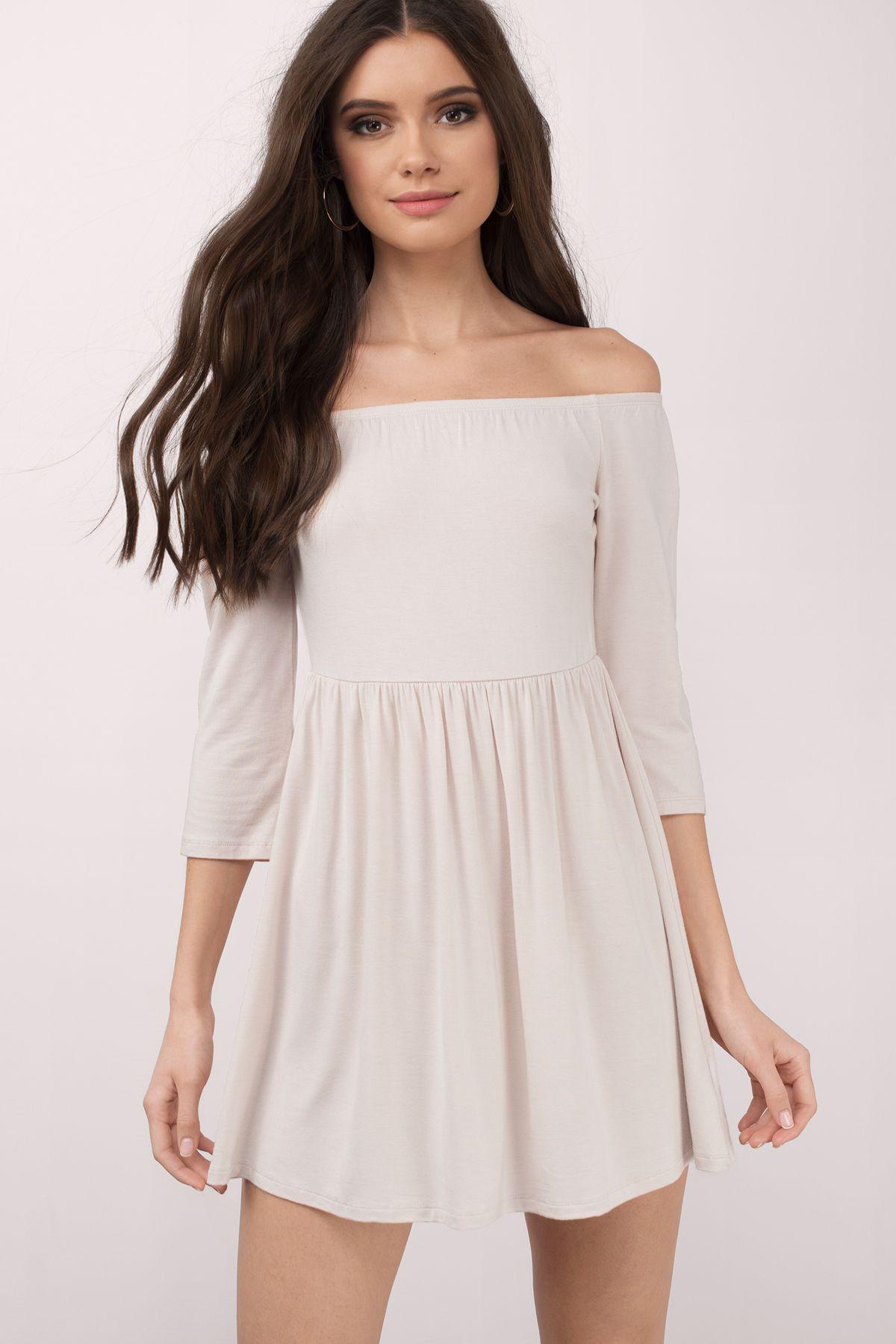 Kai Off Shoulder Skater Dress Skater Dress White Lace Skater Dress Dresses [ 1800 x 1200 Pixel ]