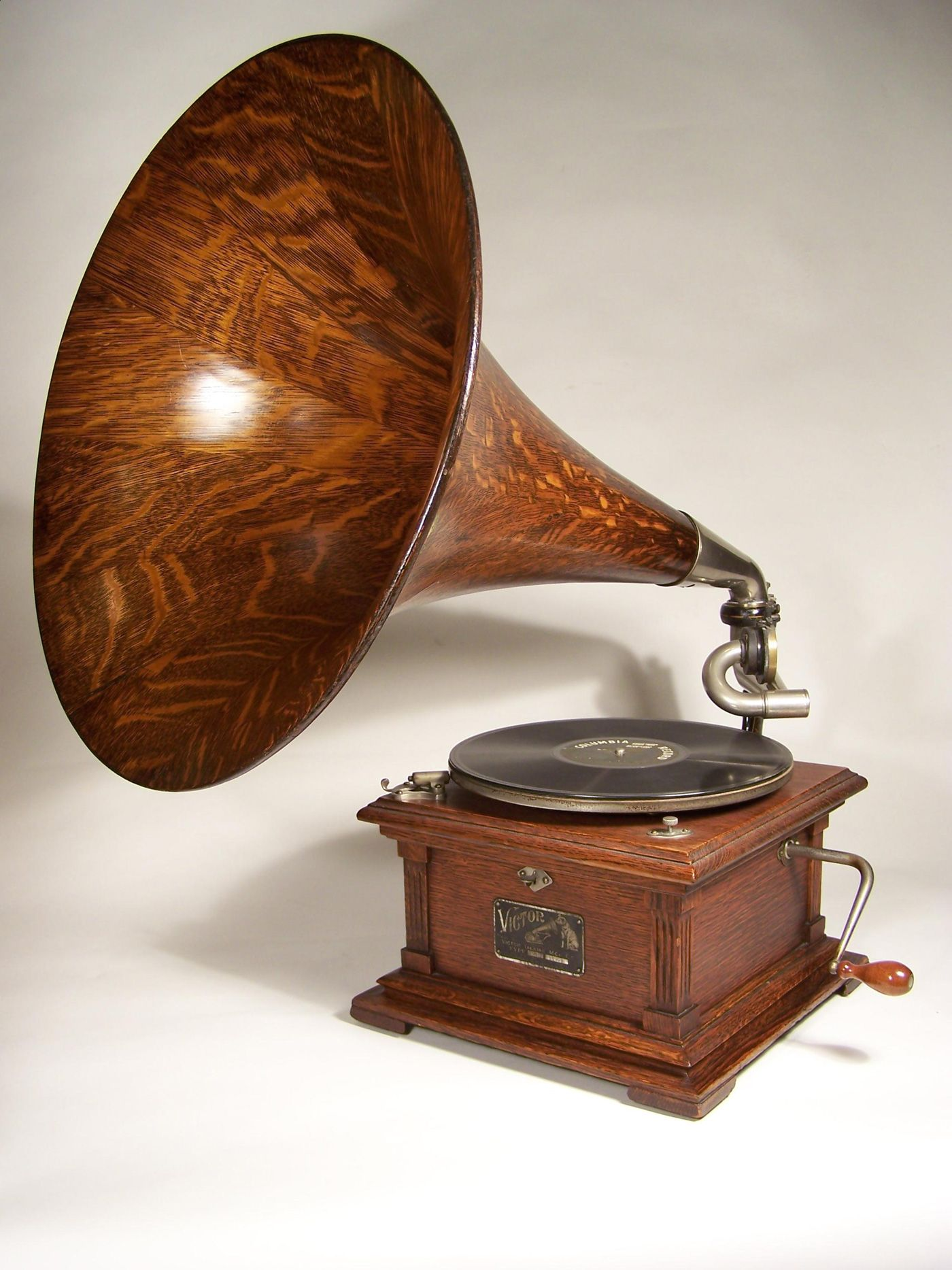 Classic Gramophone Phonograph Sound-machine Grammophon Neu Retro-music-player
