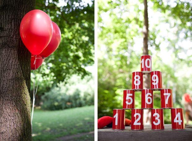 Red wedding decoration idea