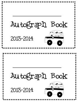 My Autograph Book dates: 2014-2015, 2015-2016, 2016-2017