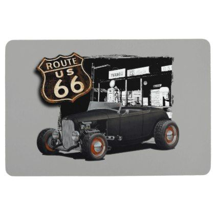 Route 66 Hot Rod Floor Mat - home gifts ideas decor special unique custom inidual customized  sc 1 st  Pinterest & Route 66 Hot Rod Floor Mat - home gifts ideas decor special unique ...