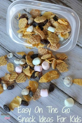 Easy On The Go Snacks For Kids! images