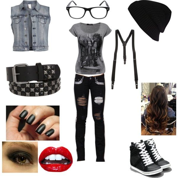 Punk Rock Outfit By Renityraemc On Polyvore Featuring Jane Norman Vila River Island Yohji