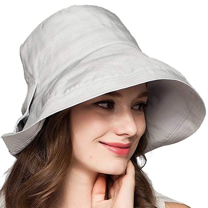 7fb22019ac0 Cotton Hat-Floppy Sun Hats for Women with Wide Brim UPF50 Bucket Hat Review