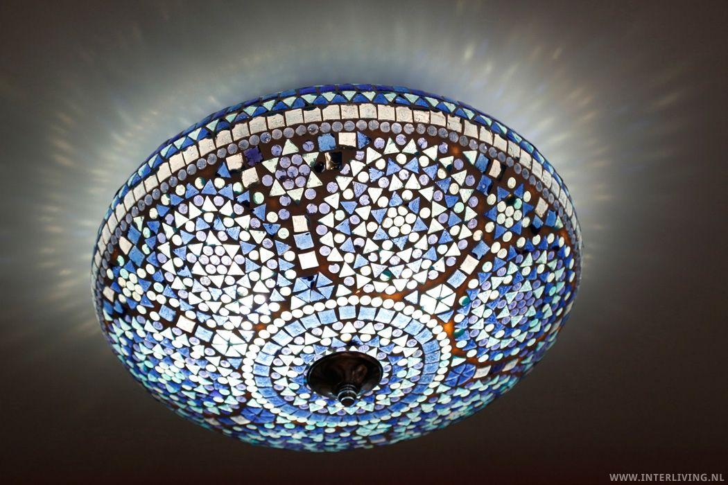 Plafonniere Blue : Hanglamp plafonniere tiffany cm blue drop hanglampen