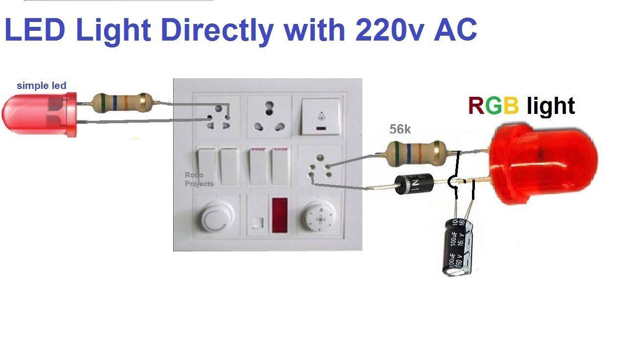 Led Directly With 220v Ac Led Simple Electronics Led Lights