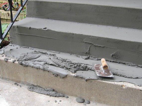 How To Fix Concrete Steps Concrete Steps Front Steps Repairing