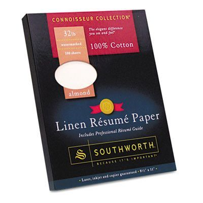 100 Cotton Linen Resume Paper 32lb 8 1 2 X 11 Almond 100