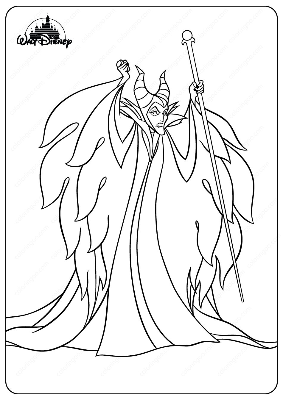 Disney Evil Fairy Maleficent Coloring Pages In 2020 Evil Fairy Rapunzel Coloring Pages Coloring Pages