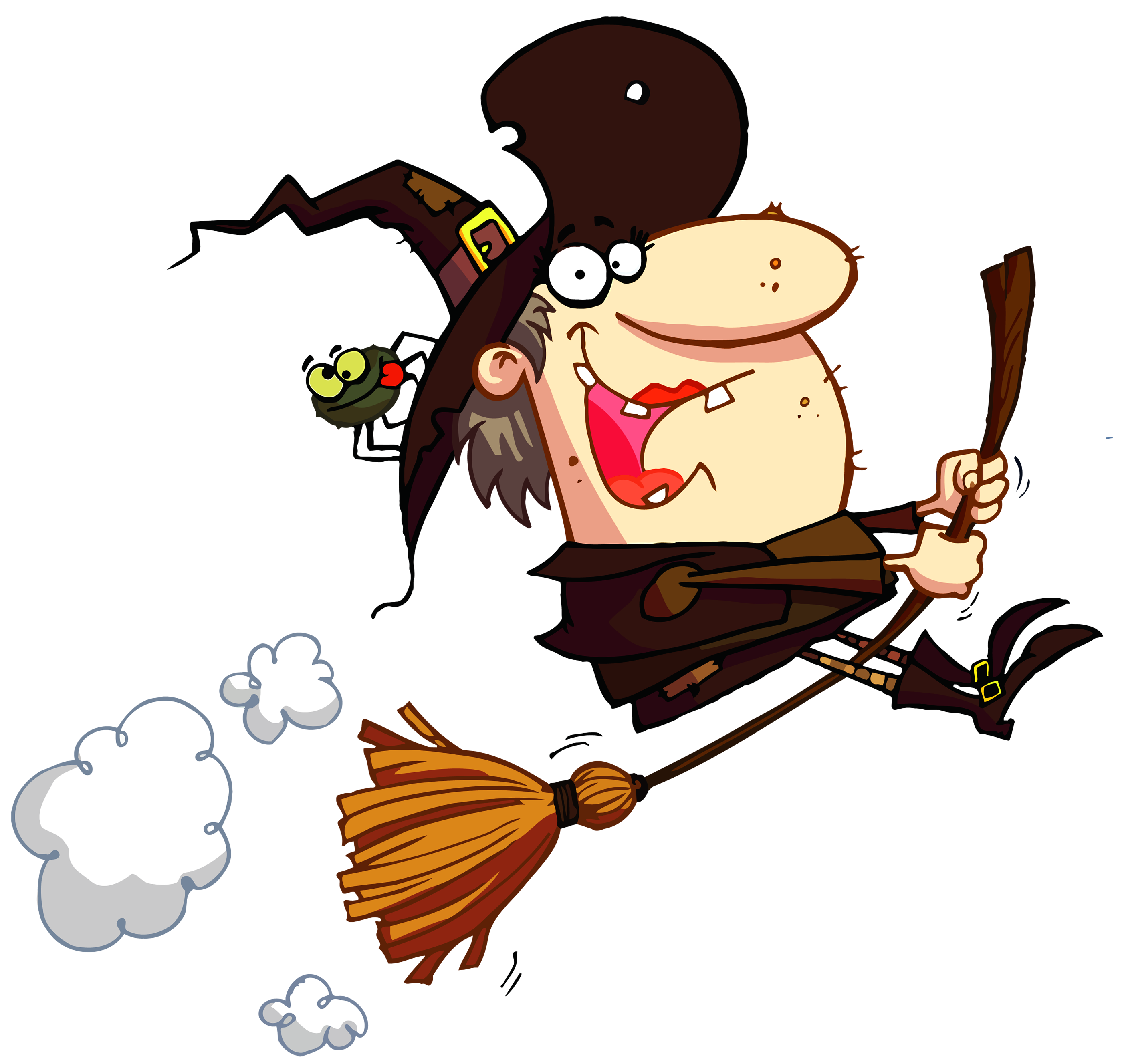 hight resolution of funny halloween witch