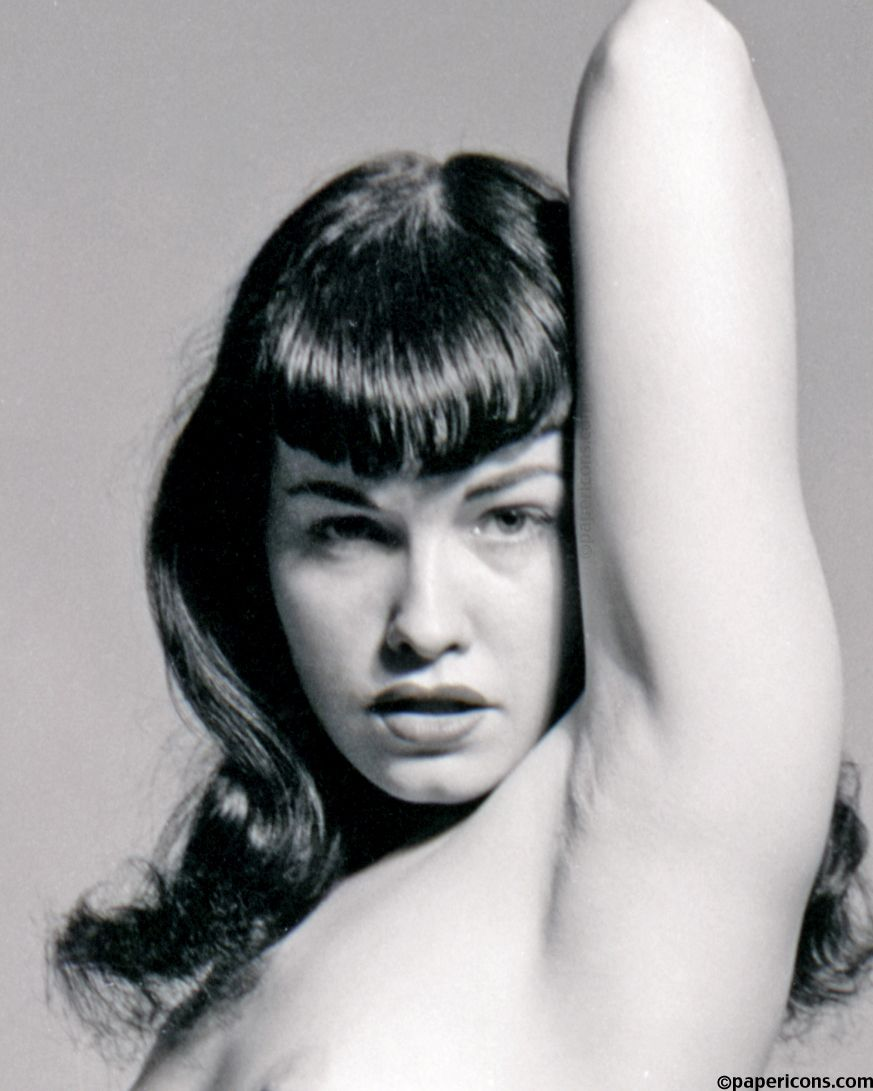 07c314f1a17 Bettie Page vamping it up close-up study