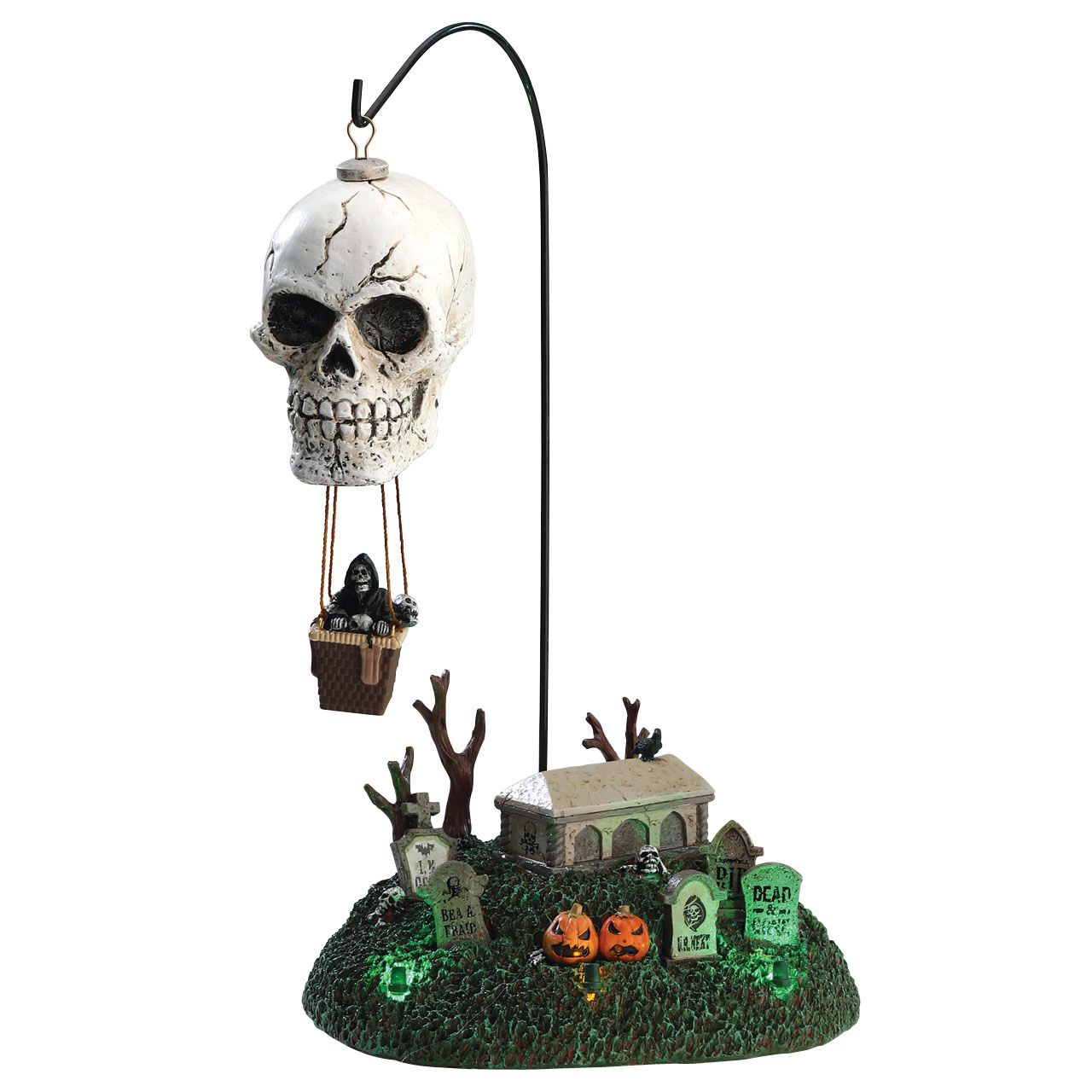 Lemax Reaper's Landing.  SKU# 74202. Released in 2017 as a Sights & Sounds piece for the Lemax Spooky Town Village Collection.