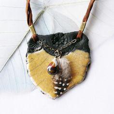 Collier raku ☼ les minoennes ☼ - terre antique -, céramique artisanale, pièce unique de créateur.