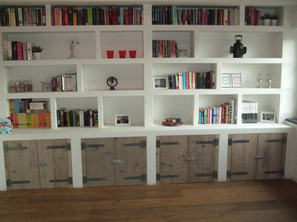 Boekenkast In Woonkamer : Ingebouwde boekenkast gosker ontwerp