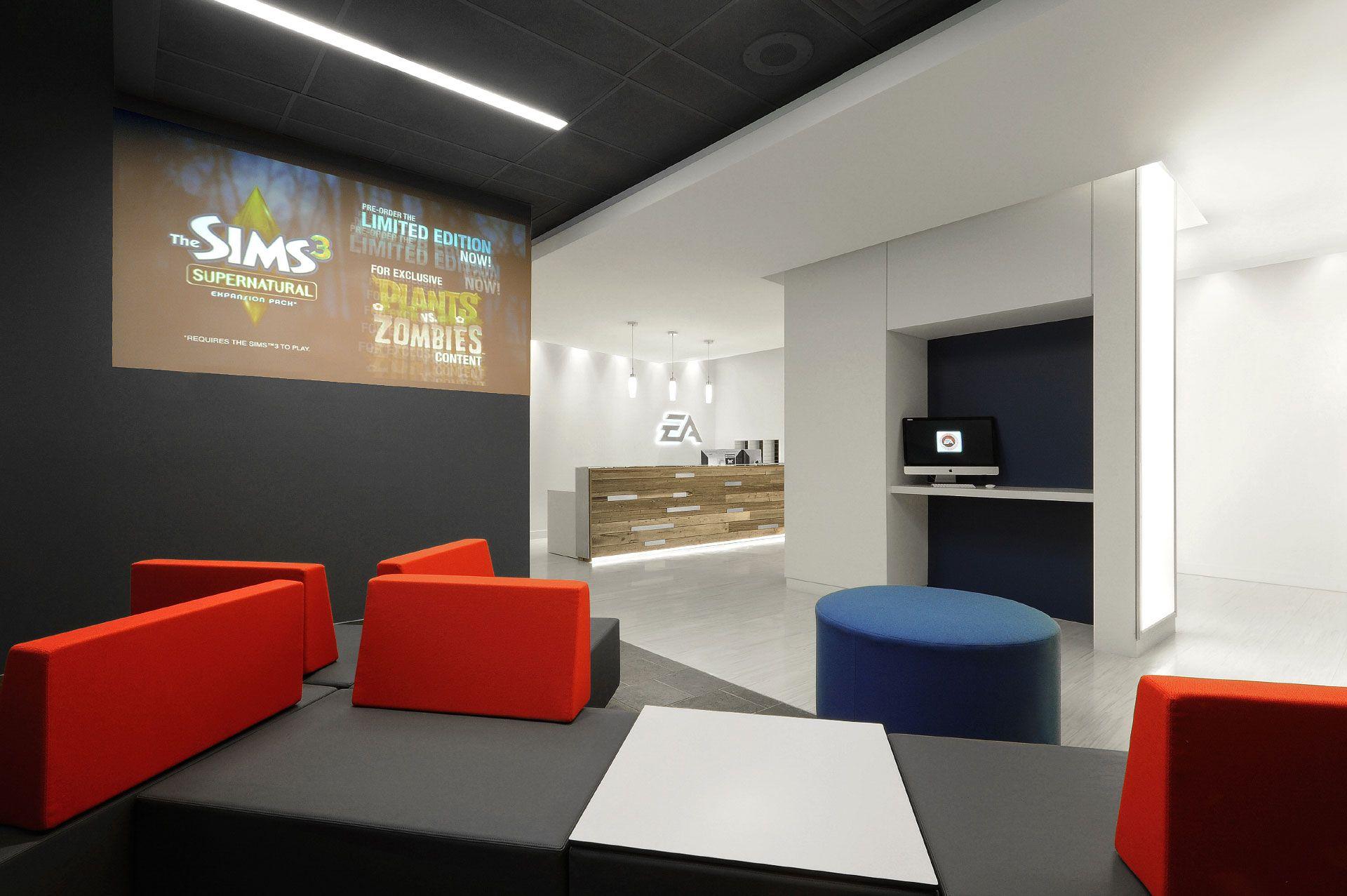 Ea Office By Kiva Design #Design #Color #Office #Reception #Modern