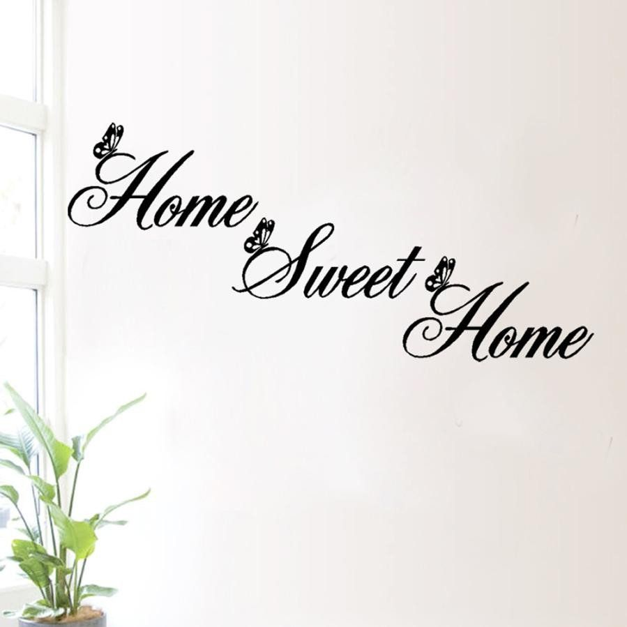 Classification for wall style home sweet home specification new home sweet home quotes decor wall stickers diy removable art vinyl butterfly wall sticker home decor supply on sale amipublicfo Choice Image