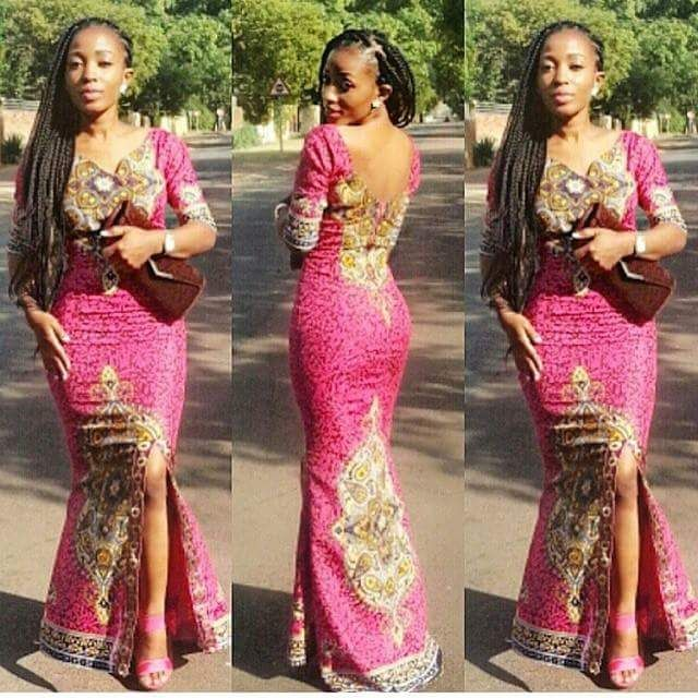 Ankara Straight Gown For Slim Ladies African Maxi