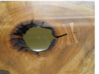 natural wood and metal slab furniture created in asheville, north carolina