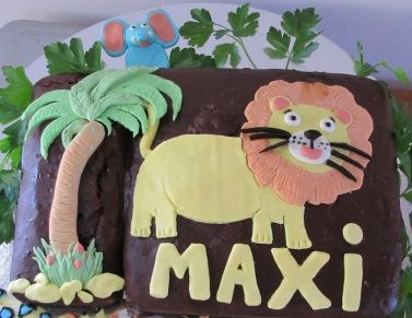Vegan All Natural Jungle Lion Cake Masons Birthday Cake