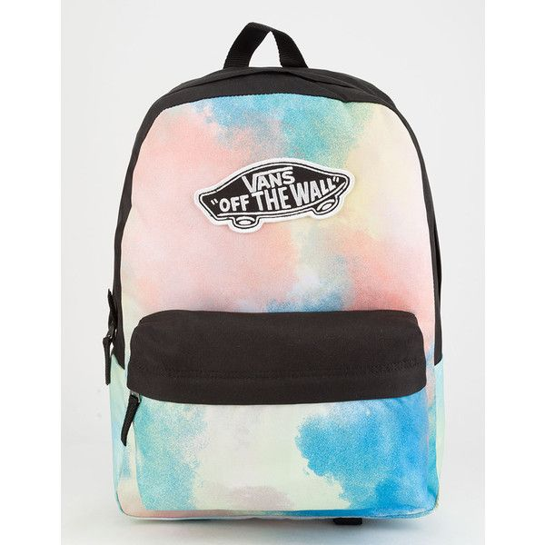 6b628089a572b Vans Realm Tie Dye Backpack ($35) ❤ liked on Polyvore featuring bags,  backpacks, miniature backpack, vans backpacks, mini rucksack, day pack  rucksack and ...