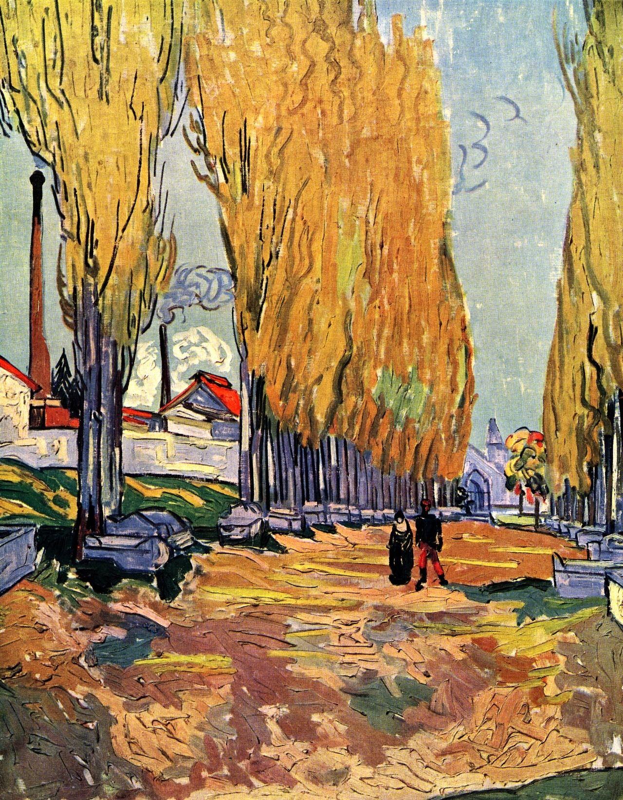 Vincent van Gogh — Les Alyscamps via Vincent