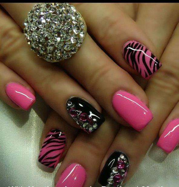 #elegantnails | Bling nails, Rose gold nails, Rhinestone nails
