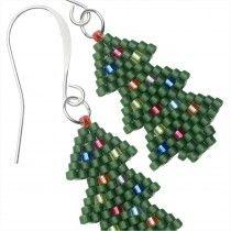 4bbf2dc07 Beaded Christmas Tree Earrings   Christmas   Earrings, Christmas ...