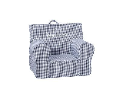 My First Navy Gingham Anywhere Chair 174 Slipcovers For