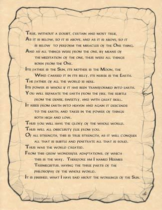 EMERALD TABLET - A4  POSTER  Wicca Pagan Witch Witchcraft Goth BOOK OF SHADOWS  picclick.com