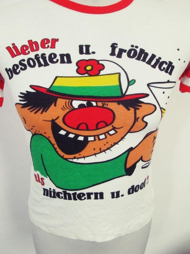 Vintage 1980s Drunk Cartoon Skinny Guy Stretch Euro T-Shirt XXS