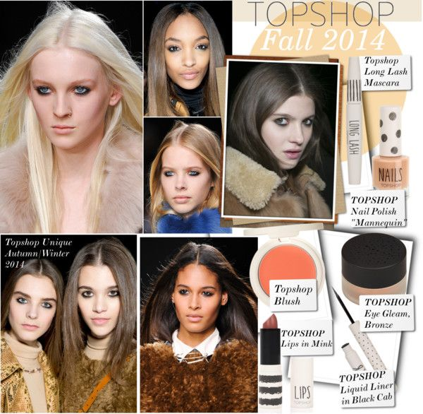 """Topshop Unique Autumn/Winter 2014 - LFW Beauty Report"" by kusja ❤ liked on Polyvore"