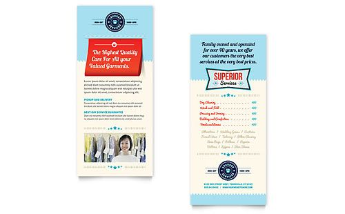 Laundry Rack Card  Design    Card Templates And Template
