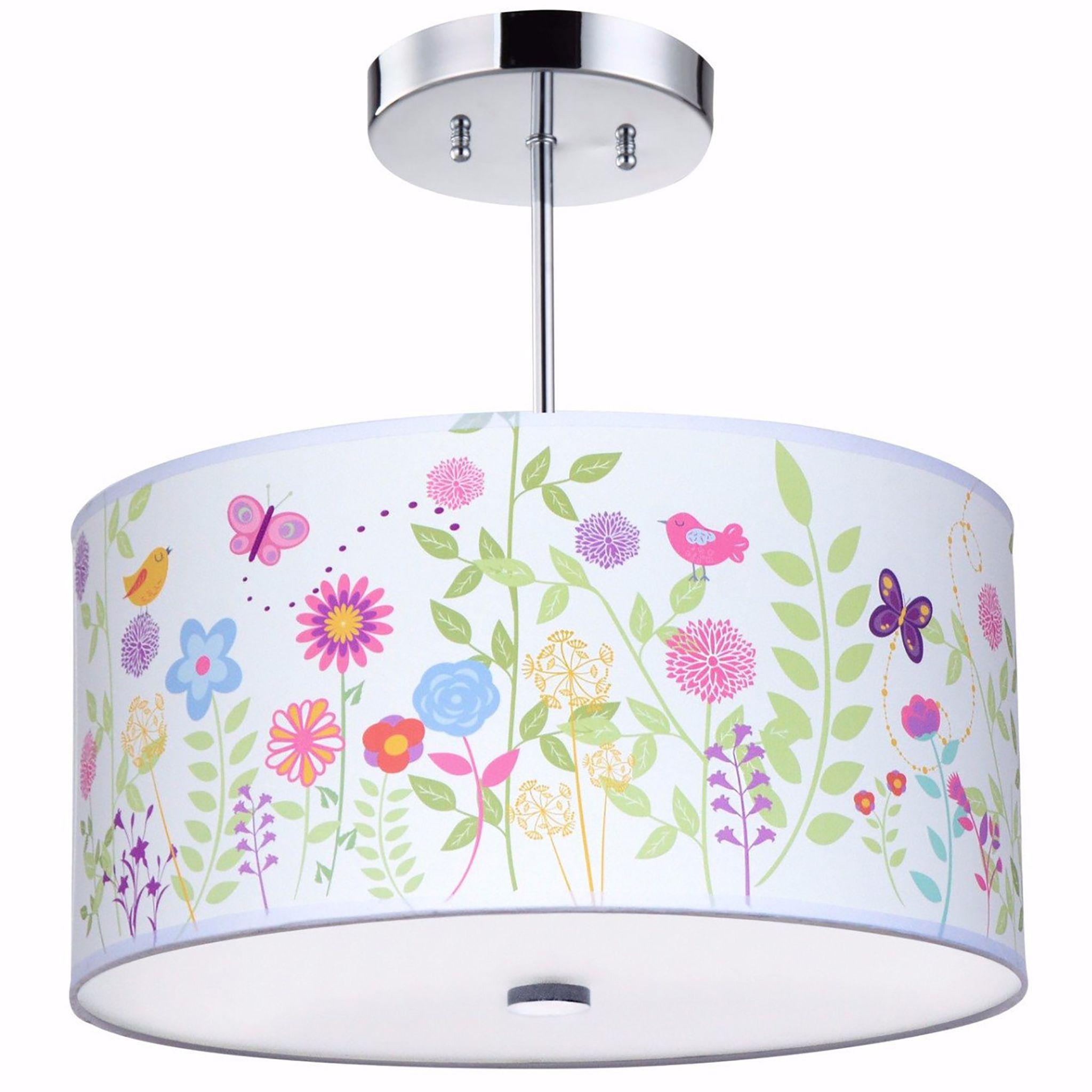 Flowers & Birdies Light Fixture, 3Light Light fixtures