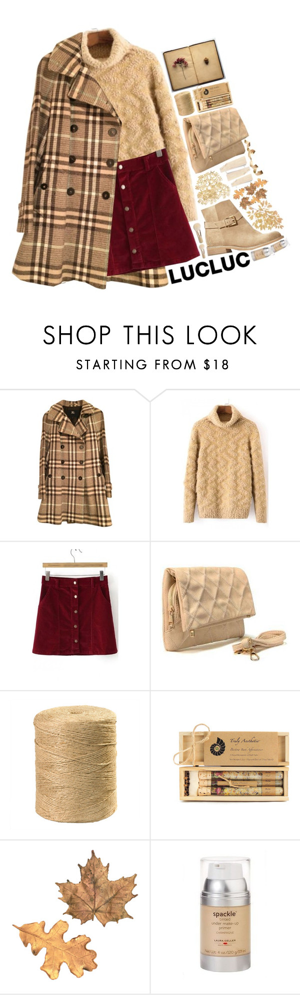 """""""Style With LUCLUC #7"""" by arierrefatir ❤ liked on Polyvore featuring Mode, Burberry, Truly Aesthetic, Laura Geller, Bare Escentuals und lucluc"""