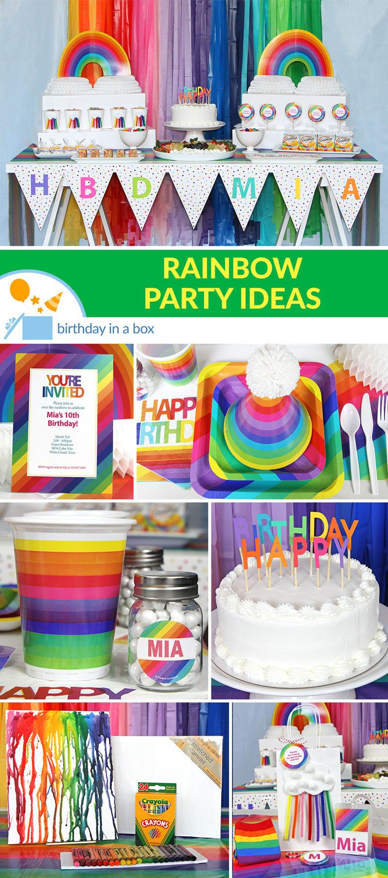 Fun Rainbow Birthday Party Foil Cone Hats Pack of 24 Multi Colored