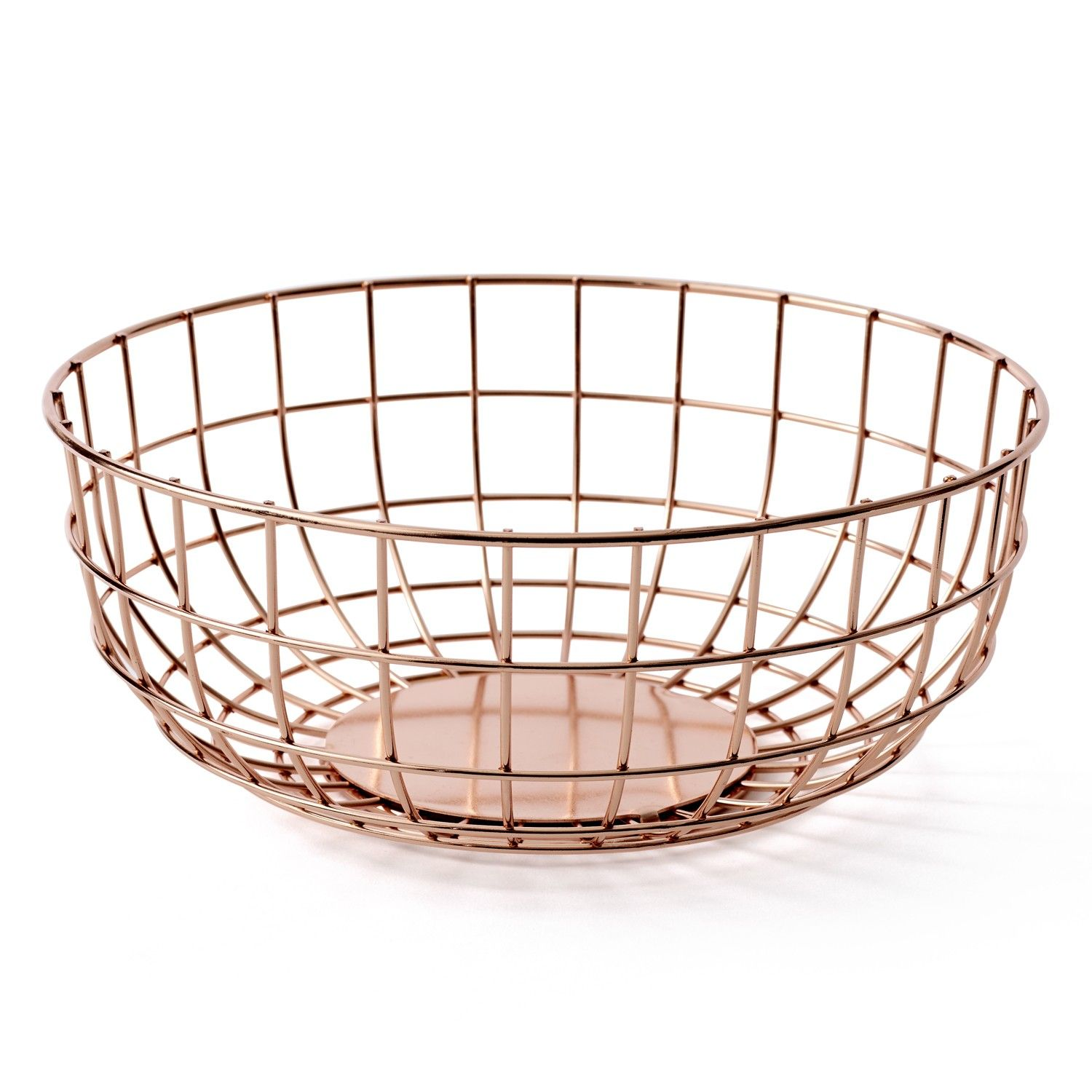 Designer Fruit Basket Stylishly Corral Wayward Objects With The Norm Wire Bowl