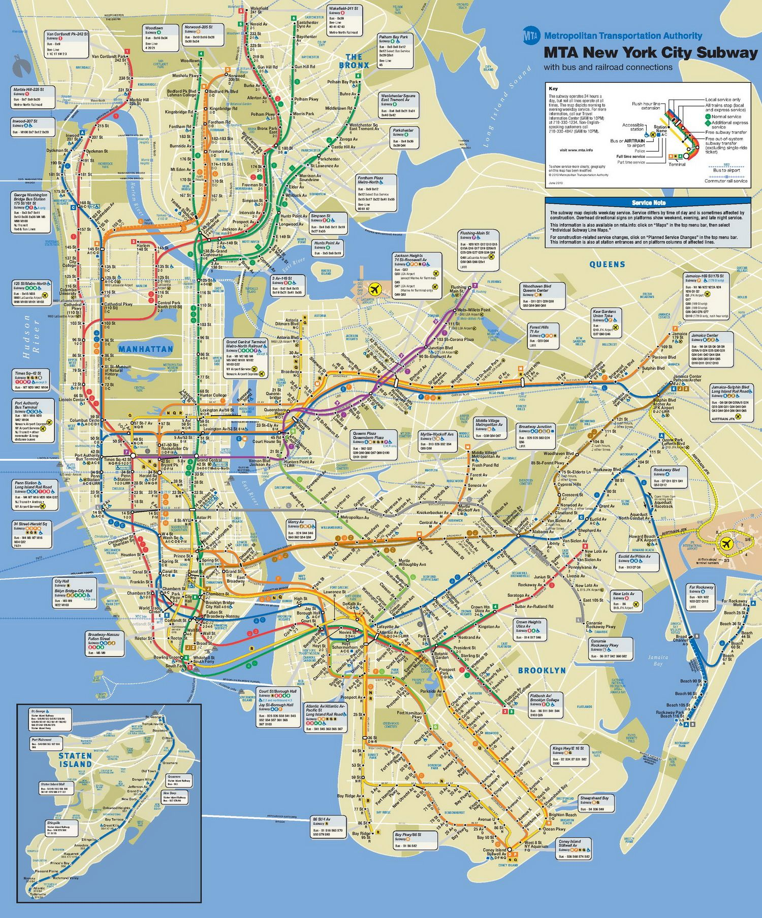 NYC Subway Manhattan Subway Map - Nyc subway map queens ny