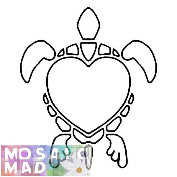 picture relating to Turtle Pattern Printable named Animal Mosaic Models Pets TURTLE Practice Do it yourself